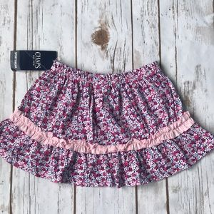 Other - Toddler Chaps Floral Flower Print Skirt